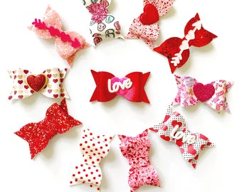 Valentine's Day Glam Chunky Hair Bows