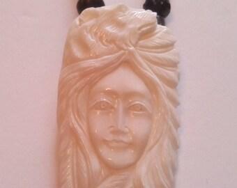 Native American spirit bear necklace