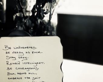 MADE TO ORDER Original Poetry - Hand-written & Signed by Erin Van Vuren *see description below for details*