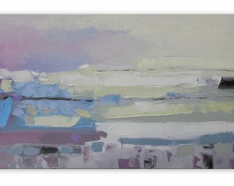 Northern Dunes Impasto painting Large artwork Intuitive art Pastel tones Yacht painting Oceanview Impressionistic Allaprima Seaview Workart
