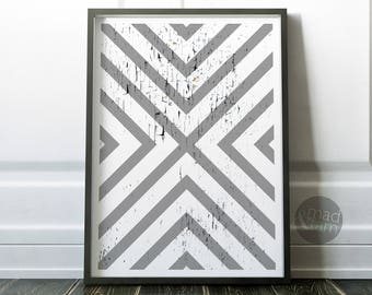 Scandinavian Decor Print, Cross Pattern Print, Printable Art, Modern Minimalist, Grey Wall Art Printable, Modern Wall Art, Scandinavian Art