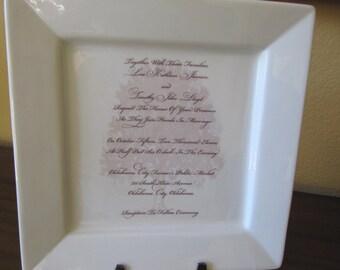 Your Wedding or Shower Invitation Custom Platter