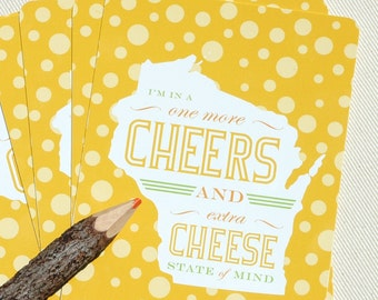 Postcard Set - Wisconsin State of Mind - by Oh Geez Design