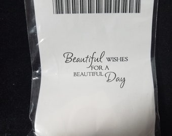Beautiful wishes for a beautiful day... acrylic cushion stamp New