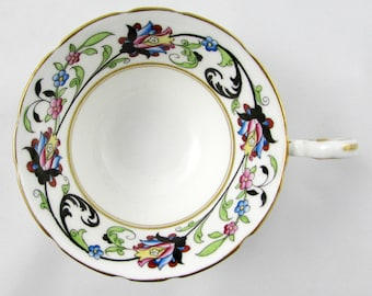 Aynsley Orphan Tea Cup, with Floral Border, Replacement Tea Cup, Teacup ONLY, No Saucer