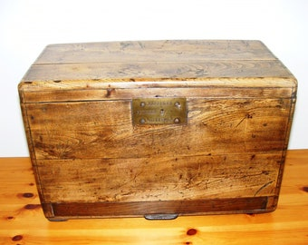 Carpenters Toolbox. Late 19th Century. Lovely patina. From Flanders.