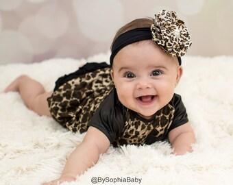 Baby Headband, Leopard Baby Headband, Baby Cheetah Headband, Baby Girl Headband, Photo Prop, Flower Headband, Animal Print Headband, 985