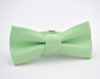 Boys Bow Tie, Mint Green Bow Tie, Ring Bearer Bow Tie, Bow Tie for Boys, Wedding Bow Tie, Bow Tie Boys