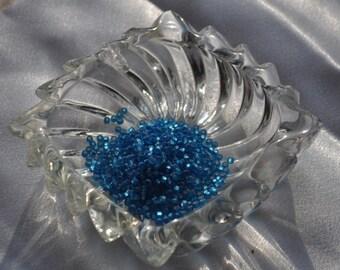 Aqua, matte S/L Size 11 Japanese seed beads