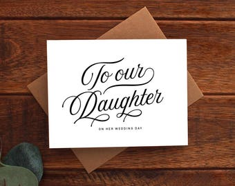 To Our Daughter on Her Wedding Day Card