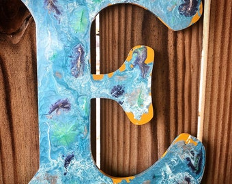 Nautical Wall Letter-Mixed Media Letters-Limited Edition-Boys Room-Letter-Nautical Decor-Textured Letters-Home Decor-Wall Art-Wall Letters