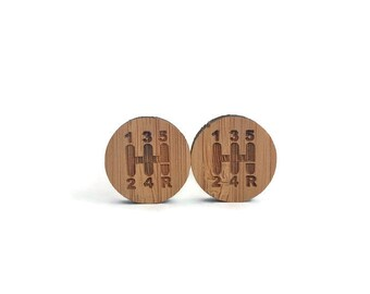 Gearshift cufflinks, clothing gift gearshift wood cufflinks, shift knob cufflinks, 5 speed cufflinks, shifter cufflinks, car cufflinks