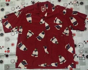 Sailor Chimpanzee rayon shirt button up full print shirt