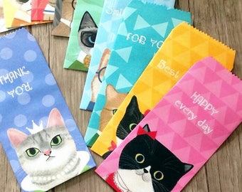 8 envelopes gift envelopes kawaii cats