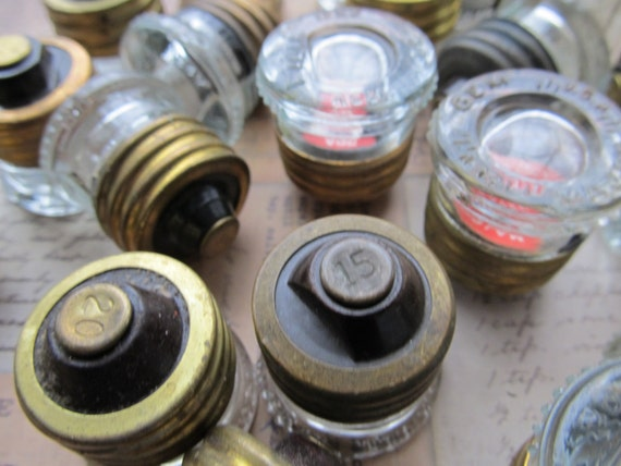 2 Vintage Glass Fuses