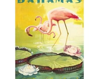 BAHAMAS 1S- Handmade Leather Journal / Sketchbook - Travel Art