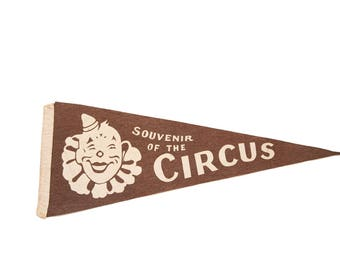 Souvenir of the Circus Felt Flag