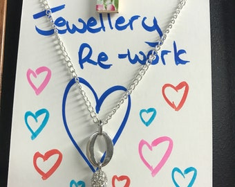 Vintage Reworked silver O nacklace