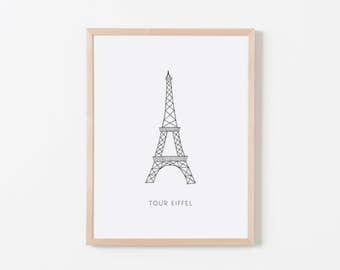 Eiffel Tower Nursery Art. Nursery Wall Art. Nursery Prints. Nursery Decor. Paris Wall Art. French Nursery.