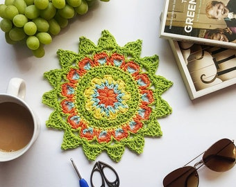 Happy Days Mandala PDF crochet pattern
