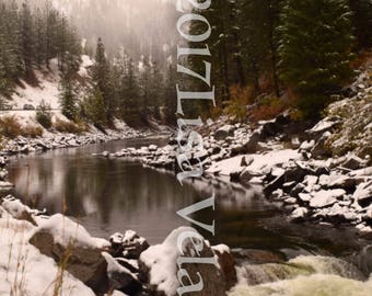 Payette River Snow view