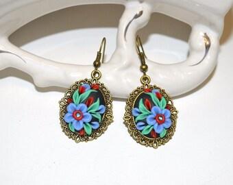 Dangle drop earrings gifts for girlfriend flower earrings sister gift womens gift romantic earrings unique jewelry women gift earrings