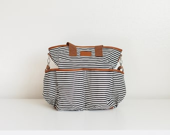 BLEMISHED BAG SALE - Classic Striped Diaper Bag