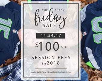 Black Friday Photography Session Sale
