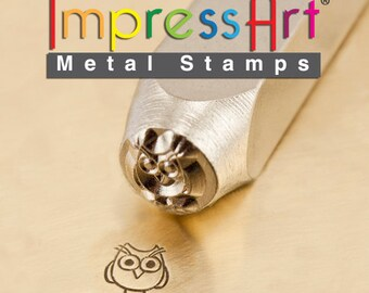 Owl Stamp - Hootie -  IMPRESSART -  6mm -  Design Stamp   - metal stamps