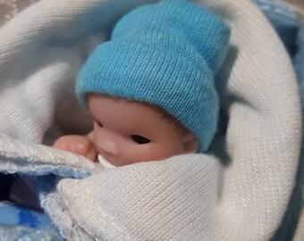 Ooak Miniature baby boy 5cm