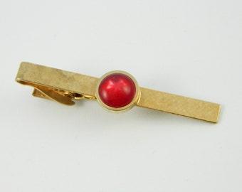 Red Star Sapphire Tie Clip
