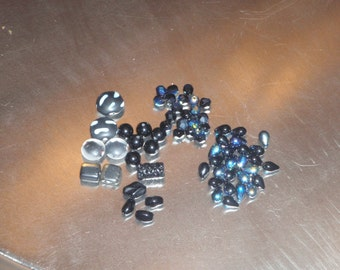 Mixed bag - Black glass beads