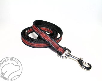 Pride of Wales Tartan Leash // Matching Tartan Dog Leash in all widths // custom lengths // Plaid Leashes // Handmade