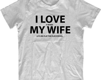 Playstation Videogame Mens Tshirt For Husband From Wife Comedy Gift Video Game Gifts Mens Geek T-shirt