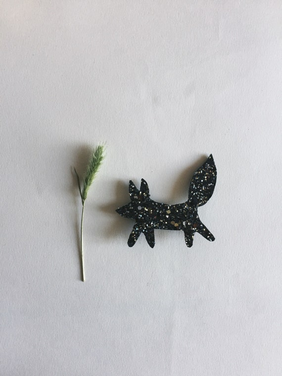 Fox Gaspard - Fox Brooch - brooch Fox - Handmade - soft Cactus - the Rochelle