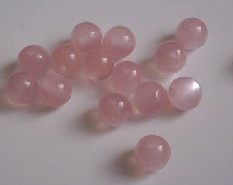 """Pink 8 mm - 20 pearls """"cat's eye"""""""