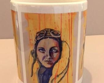 Amy Johnson Printed Mug