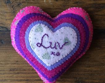 Valentine's LUV heart decoration