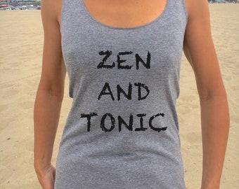 Zen and tonic racerback, Mood tees, best friend, peace