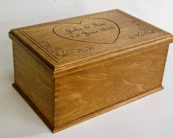 Box - Luxury Maranti Box with Inner Scribing