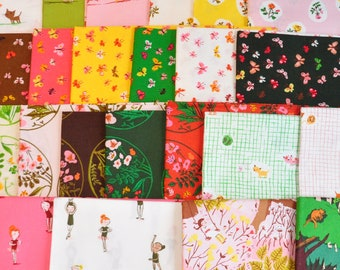 fabric destash Heather Ross, Tiger Lily - 23 Fat Quarter -  oop out of print