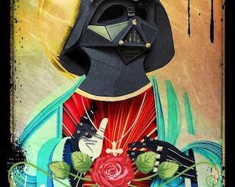 Darth Vader as Holy Jesus Print