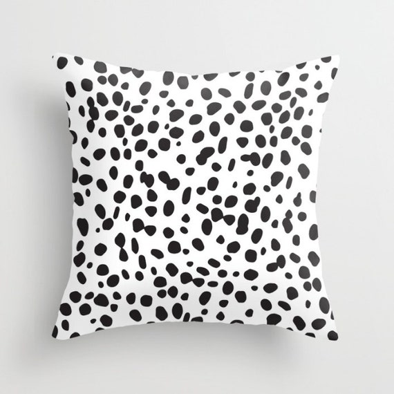 Dalmatian Pattern Pillow w/ Insert | Throw Pillow | Pillow Case | Pillow
