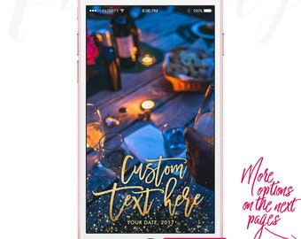Custom Snapchat Filter Custom Geofilter Gold Snapchat Geofilter Wedding Snapchat On Demand Geofilter Gold Filter Custom Geofilter