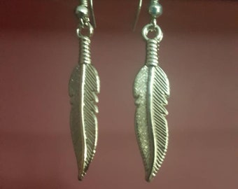 Stirling silver Feathers