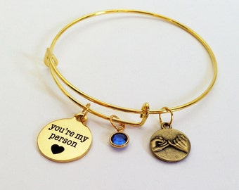 Greys Anatomy, Youre My Person Bracelet, You're My Person, Pinky Promise, Girlfriend Gift, Best Friend Gift, Girlfriend Personalized, Wife