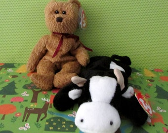 Curly and Daisy Retired  TY Beanie Babies W/ Both Tags
