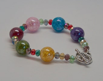 Glass and Crystal Bracelet