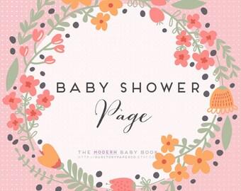 MODERN Baby Book //  Additional Baby Shower Pages// newborn keepsake. baby book. baby keepsake. memory book. baby shower gift