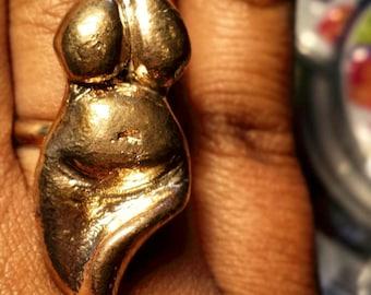Bronze Goddess Ring